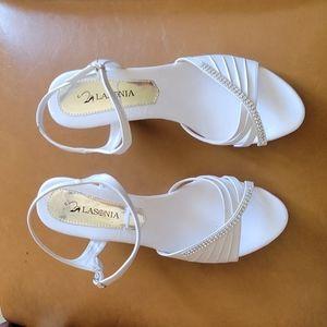 LASONIA high heels size 10 white